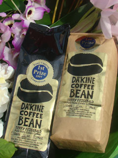 Da Kine Coffee Bean Dark and Medium Roast Bags